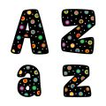 Designer Letters, Dots on Black, 4