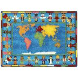 Hands Around the World™ Rug, 5'4 x 7'8 Rectangle