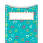 Standard Library Pockets, Dots on Turquoise