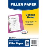 C-Line® Mini Filler Paper, Ruled, White, Pack of 50