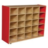 25-Tray Storage, 38H x 48W, Without Trays, Strawberry Red™