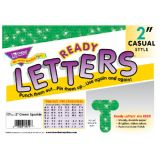 2 Uppercase Casual Ready Letters®, Green Sparkle