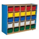 25-Tray Storage, 38H x 48W, With Color Trays, Blueberry™