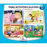 Daily Activities 4 in 1 Puzzles