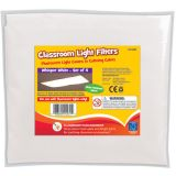 Classroom Light Filters, Whisper White, Set of 4