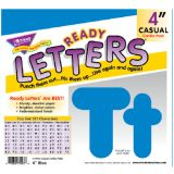 4 Uppercase/Lowercase Casual Solids Ready Letters® Combo Pack, Blue