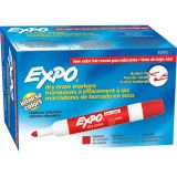 Expo® Low Odor Dry Erase Markers, Bullet Tip, Red