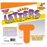 4 Uppercase Casual Solids Ready Letters®, Orange
