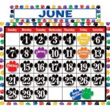 Colorful Paw Prints Calendar