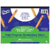 Handwriting Paper, 10 1/2 x 8, D'Nealian™ (1), Zaner-Bloser™ (2), 40 sheet tablet