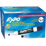 Expo® Low Odor Dry Erase Markers, Bullet Tip, Black