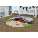Barn Animals PhotoFun Rug™, 6' Round