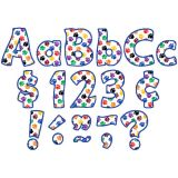 Funtastic Font 4 Letters, Colorful Paw Prints, Combo Pack