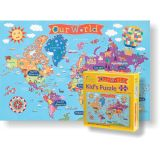 Kid's Jigsaw Puzzle, World