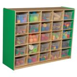 25-Tray Storage, 38H x 48W, With TranslucentTrays, Green Apple™