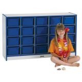 25 Tray Mobile Cubbie, Without trays