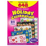 Holiday Celebration Sparkle Stickers® Variety Pack