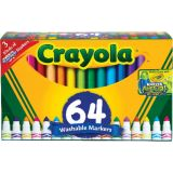 Crayola® Washable Broad Line Markers, 64 colors