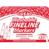 Cra-Z-Art® Washable Fine Line Markers, 40 count