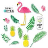 Palm Paradise Flamingo Fun Bulletin Board Set