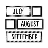 Core Decor Months of the Year Mini Bulletin Board Set