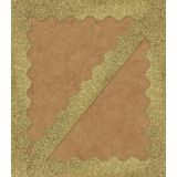 Sparkle + Shine Gold Glitter Scalloped Border
