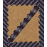 Sparkle + Shine Gold Glitter & Navy Stripes Scalloped Border