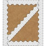 Schoolgirl Style™ Industrial Chic Borders, White with Black Dots