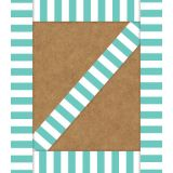 Schoolgirl Style™ Simply Stylish Turquoise Stripe Straight Borders