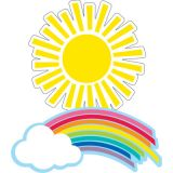 Schoolgirl Style™ Hello Sunshine Rainbows & Suns Colorful Cut-Outs®