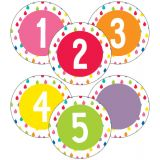 Schoolgirl Style™ Hello Sunshine 3 Student Numbers Colorful Cut-Outs®