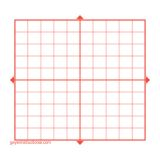 Graphing 3M Post It® Notes-X Y Axis-10 x 10 squares