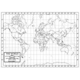 Outline Wall Maps, World Map
