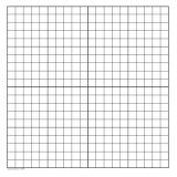 GEYER Dry Erase Graph Magnets - 23 x 24, 1 Squares, XY Axis