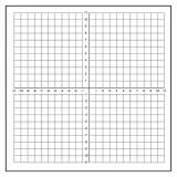 GEYER Dry Erase XY Axis Graph Magnet - Numbered Axis