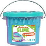 Nickelodeon Tri-Color Slime Bucket, 3lbs.