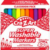 Cra-Z-Art® Washable Broad Line Markers, 40 count