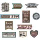 Clingy Thingies® Positive Sayings Accents, Home Sweet Classroom