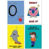 So Much Pun! Inspire U® Positive Poster 4-Pack