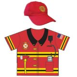 My 1st Career Gear for Toddlers, Firefighter Top & Cap Set