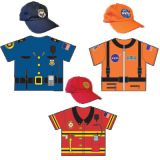 My 1st Career Gear for Toddlers, 6-Piece Set (3 tops, 3 caps)