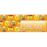 Laminated Hall Pass, Emoji Library Pass