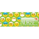 Laminated Hall Pass, Emoji Nurse Pass