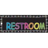 Laminated Double-Sided Hall Passes, 9 x 3.5, Chalk Loops Restroom Pass
