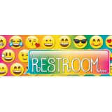 Laminated Hall Pass, Emoji Restroom Pass