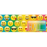 Laminated Hall Pass, Emoji Hall Pass