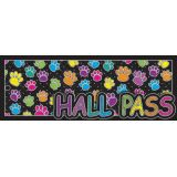 Laminated Hall Pass, Colored Paws Hall Pass