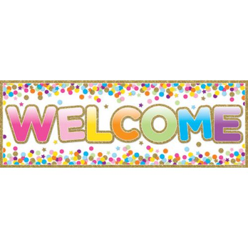 Image result for welcome banner confetti