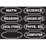 Die-Cut Magnets, Chalkboard Class Subjects