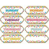 Die-Cut Magnets, Confetti Days of the Week